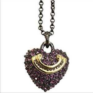 Juicy Couture Purple Heart Necklace